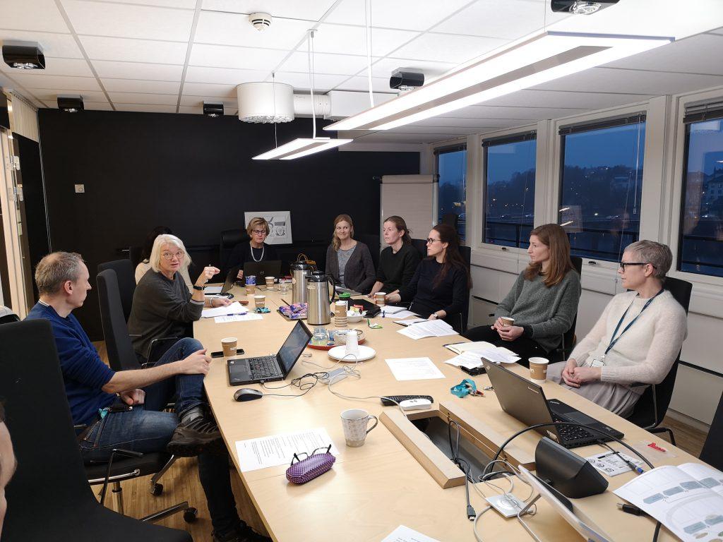 Prosjektgruppen samlet på møte 3. desember 2019